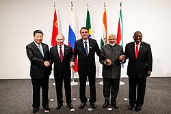Picture of 5 great leaders of BRICS Organization