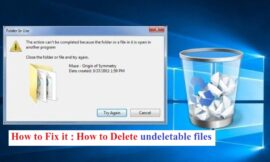 How to delete undeletable files in Windows?