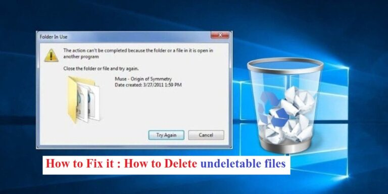Read more about the article How to delete undeletable files in Windows?