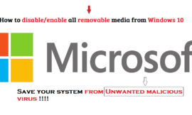 How to disable all removable media from Windows 10