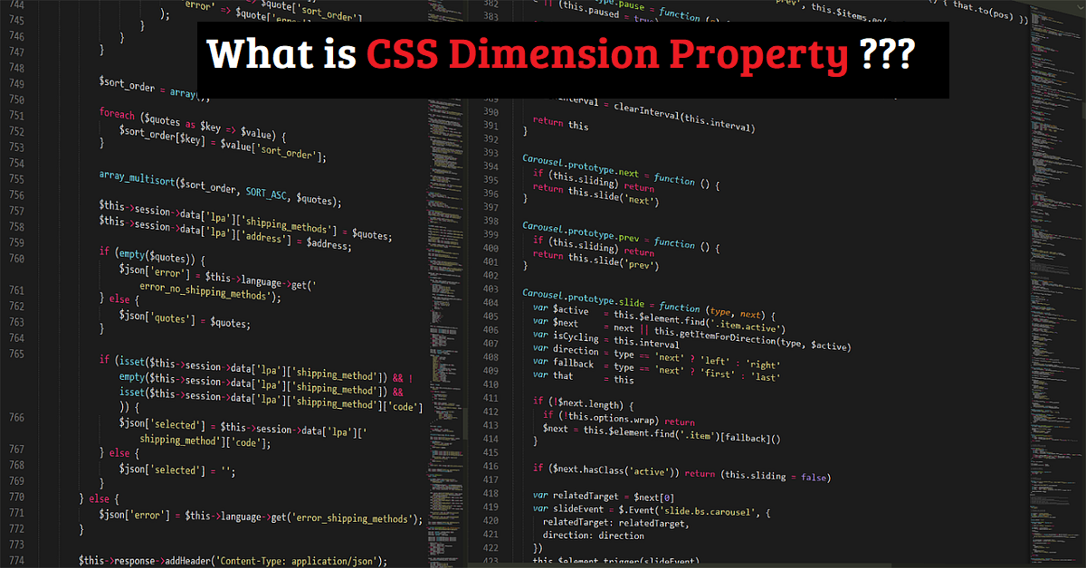 CSS Dimensions