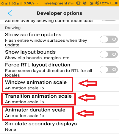 Animation-feature-developer-option-android