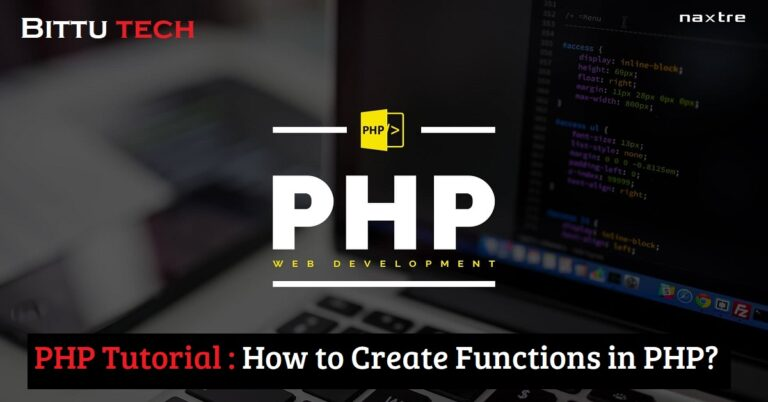 PHP Tutorial: How to create functions in PHP?