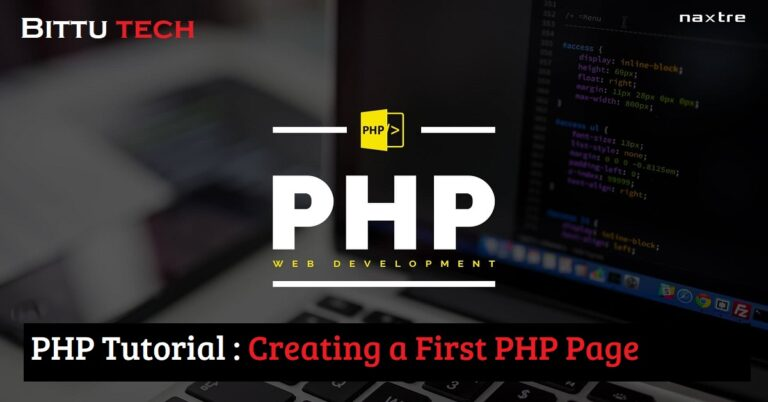 PHP Tutorial: Creating a First PHP Page