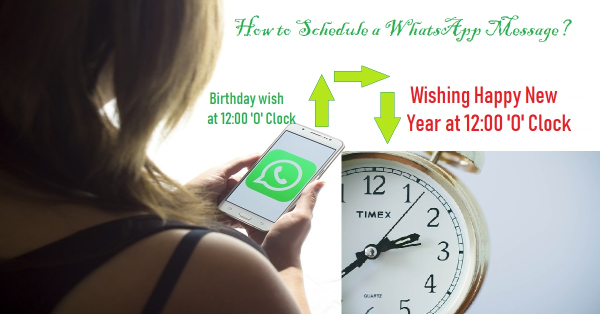 How to schedule a WhatsApp message?